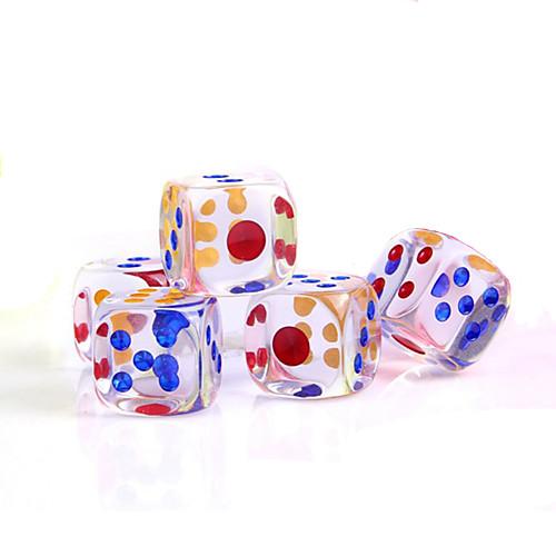 Игральные кости Кубики и фишки Игрушки Квадратный Хрусталь ПВХ 5 Куски Подарок