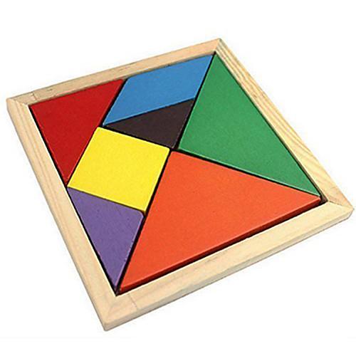 Китайская геометрическая головоломка Пазлы Деревянные пазлы Обучающая игрушка Цветной деревянный Классический и неустаревающий Девочки