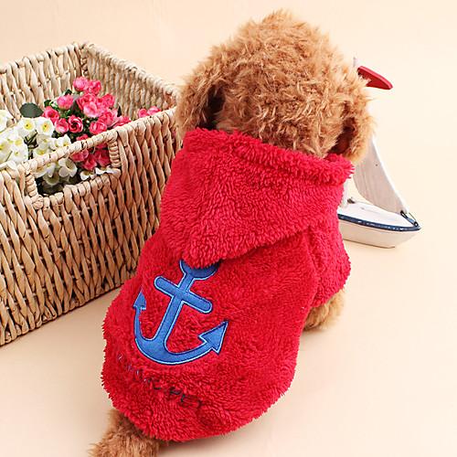 Кошка Собака Толстовки Одежда для собак Морской Белый Серый Розовый Красный Синий Вельвет-корд Костюм Для домашних животных Муж. Жен. кошка собака свитера одежда для собак однотонный коричневый сукно костюм для домашних животных муж жен