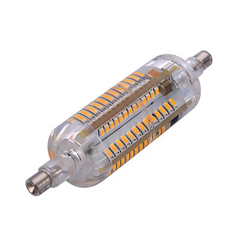 YWXLIGHT 6W 500-600lm R7S LED прожекторы Утапливаемое крепление 104 Светодиодные бусины SMD 3014 Водонепроницаемый Декоративная Тёплый