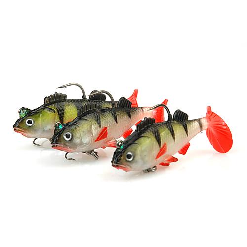 3pcs штук Рыболовная приманка Мягкие джеркбейтами Shad Jig Head Мягкие пластиковые Морское рыболовство Спиннинг Ловля на крючок