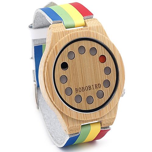 Муж. Наручные часы Горячая распродажа / / Кожа Группа Винтаж / На каждый день / Радужный Разноцветный / Два года / Sony SR626SW