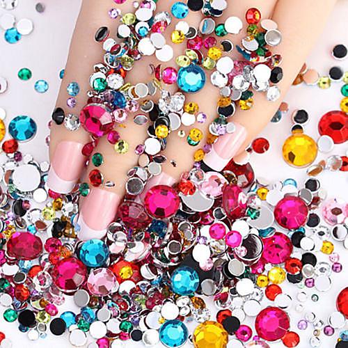 2000 pcs Украшения для ногтей Дизайн ногтей блестит / Мода Повседневные / ABS
