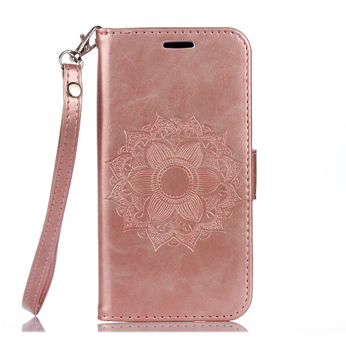 Case For Samsung Galaxy Samsung Galaxy S7 Edge Wallet / Card Holder / with Stand Full Body Cases Flower Hard PU Leather for S7 edge / S7 / S6 edge