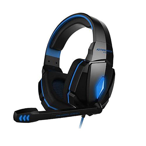 игровые наушники G4000 стерео шумоподавления игровую гарнитуру микрофон водитель Hifi свет водить для ПК <br>