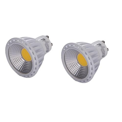 YouOKLight 2pcs 450lm GU10 Точечное LED освещение MR16 1 Светодиодные бусины COB Диммируемая Декоративная Тёплый белый Холодный белый