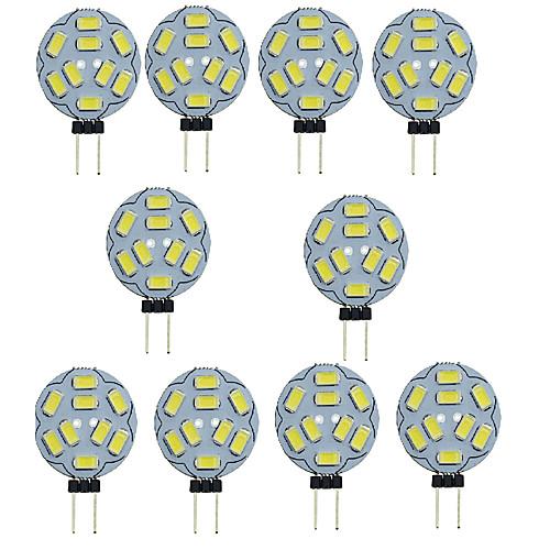 10 шт. 1.5W 150-200lm G4 Двухштырьковые LED лампы T 9 Светодиодные бусины SMD 5730 Декоративная Тёплый белый Холодный белый 12V