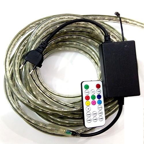 4м RGB контроллеры 240 светодиоды 5050 SMD RGB Пульт управления / Можно резать / Водонепроницаемый 220 V контроллеры таймеры блоки управления