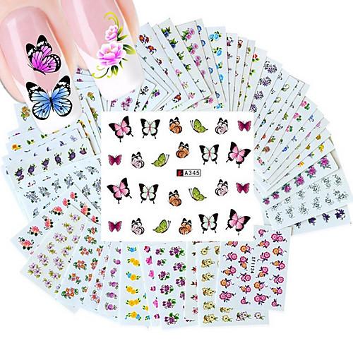 50pcs Наклейка для переноса воды Шаблон шаблона для ногтей Повседневные Мода Высокое качество