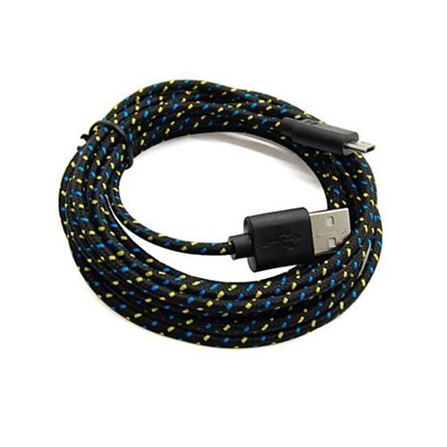 Old Shark™2 упаковки, 2M, 6 футов, Микро-USB плетеный кабель для зарядки и синхронизации данных для Samsung Black