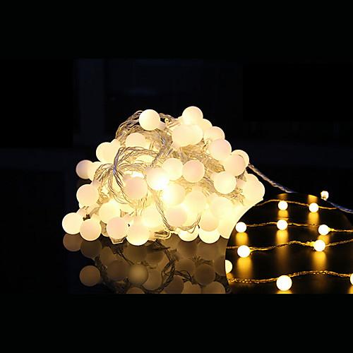 2,5м Гирлянды 20 светодиоды ДИП светодиоды Тёплый белый Пульт управления / Диммируемая / Компонуемый 5 V / Меняет цвета / IP44 светодиоды
