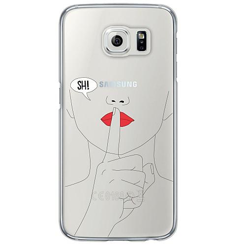 Кейс для Назначение SSamsung Galaxy Samsung Galaxy S7 Edge Ультратонкий Полупрозрачный Кейс на заднюю панель другое Мягкий ТПУ для S7 кейс для назначение ssamsung galaxy кейс для samsung galaxy ультратонкий кейс на заднюю панель сплошной цвет мягкий тпу для s7 edge s7