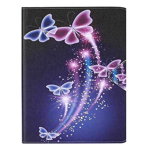 цена на Кейс для Назначение Apple iPad Air 2 iPad Air Бумажник для карт Чехол Бабочка Твердый Кожа PU для iPad Air iPad Air 2 Apple