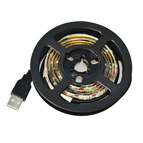 Гибкие светодиодные ленты 60 светодиоды Белый Можно резать Водонепроницаемый Самоклеющиеся Подсветка для авто DC 5V DC5