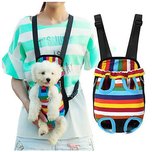 Кошка Собака Переезд и перевозные рюкзаки передняя Рюкзак Животные Корзины В полоску Компактность Дышащий полоса Для домашних животных рюкзак для животных