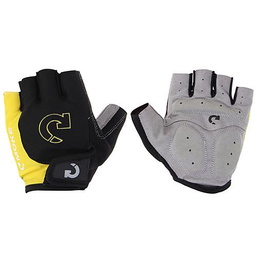 Спортивные перчатки Перчатки для велосипедистов Износостойкий Анти-скольжение Защитный Антибактериальный Легкие Без пальцев Спандекс Кожа перчатки без пальцев шерстяные с рисунком розовые