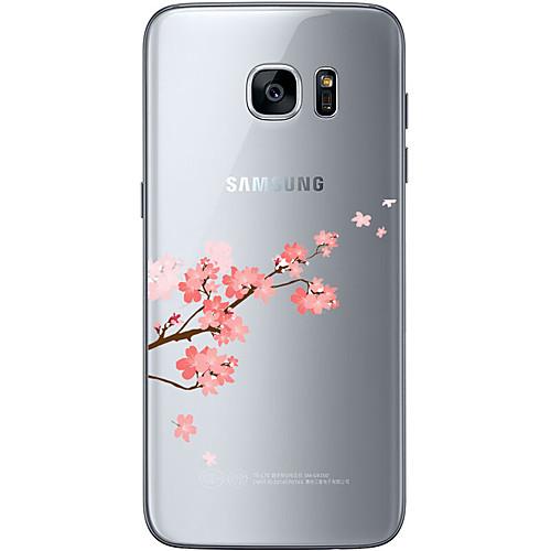 Кейс для Назначение SSamsung Galaxy Samsung Galaxy S7 Edge С узором Кейс на заднюю панель Цветы Мягкий ТПУ для S7 edge S7 S6 edge plus S6