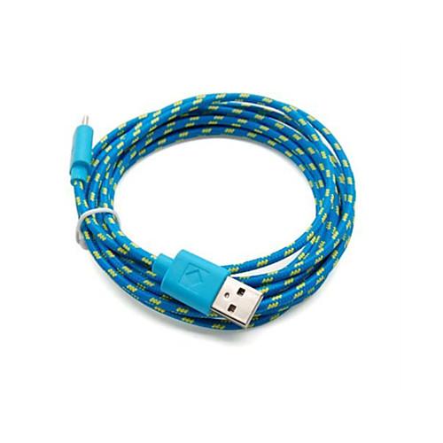 2 pakcs 2м 6 футов микро USB для зарядки и синхронизации данных кабель кабель ткани плетеные тканые для Samsung HTC андроид устройств белый 2м usb зарядное устройство кабель синхронизации адаптер плетеный для samsung для htc для iphone 82583