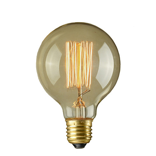 1шт 40 Вт E27 E26/E27 E26 G95 Тёплый белый 2300 К Лампа накаливания Vintage Эдисон лампочка AC 110-220 AC 110-130 В AC 220-240V V