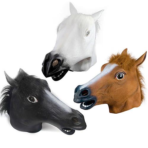 Хэллоуин новинка жуткий резиновый животное грива лошадь
