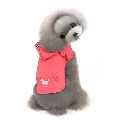 Собака Толстовки Дождевик Одежда для собак Однотонный Желтый Красный Синий Нейлон Костюм Для домашних животных Муж. Жен. Защита от ветра комбинезон дождевик для собак dezzie такса большая