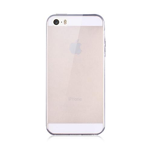 Кейс для Назначение iPhone 5 Apple iPhone X iPhone X iPhone 8 Кейс для iPhone 5 Прозрачный Кейс на заднюю панель Сплошной цвет Мягкий ТПУ