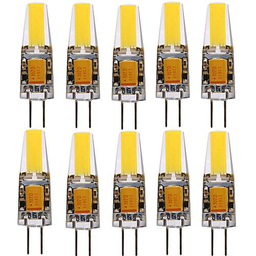 YWXLIGHT 10 шт. 4W 250-350lm G4 Точечное LED освещение T 1 Светодиодные бусины COB Декоративная Тёплый белый Холодный белый Естественный