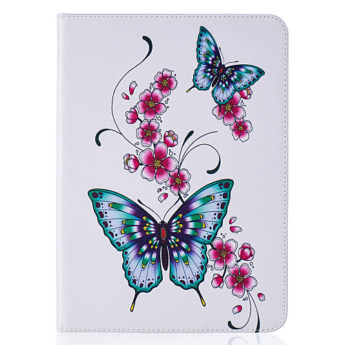 Case For Samsung Galaxy / Tab S2 8.0 / Tab S2 9.7 Wallet / Card Holder / with Stand Full Body Cases Butterfly Hard PU Leather for Tab E 9.6 / Tab E 8.0 / Tab A 7.0
