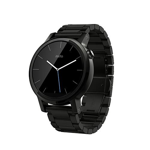 Ремешок для часов для Мото 360 Motorola Классическая застежка Нержавеющая сталь Повязка на запястье