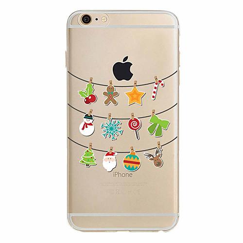 Кейс для Назначение Apple iPhone X iPhone 8 Plus iPhone 7 iPhone 6 Кейс для iPhone 5 Ультратонкий С узором Задняя крышка Рождество Мягкий