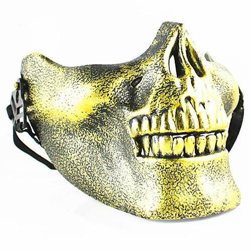 череп скелет airsoft пейнтбол наполовину лицо защитная