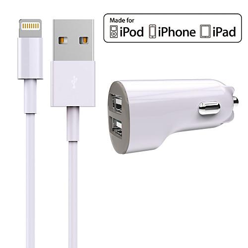 Автомобильное зарядное устройство Зарядное устройство USB Универсальный Зарядное устройство и аксессуары 2 USB порта 2.4 A DC 12V-24V
