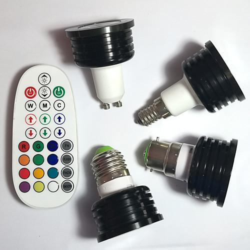 4шт 400lm E14 GU10 E26 / E27 B22 Точечное LED освещение MR16 1pcs Светодиодные бусины Высокомощный LED Диммируемая Декоративная На пульте