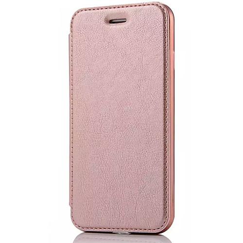 Кейс для Назначение Apple iPhone X iPhone 8 Кейс для iPhone 5 iPhone 6 iPhone 7 Бумажник для карт Флип Чехол Сплошной цвет Твердый Кожа PU твердый защитный чехол для iphone 6 6s 6plus 7 7plus iphone x