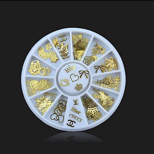 1 pcs Украшения для ногтей Дизайн ногтей блестит / металлический / Мода Повседневные
