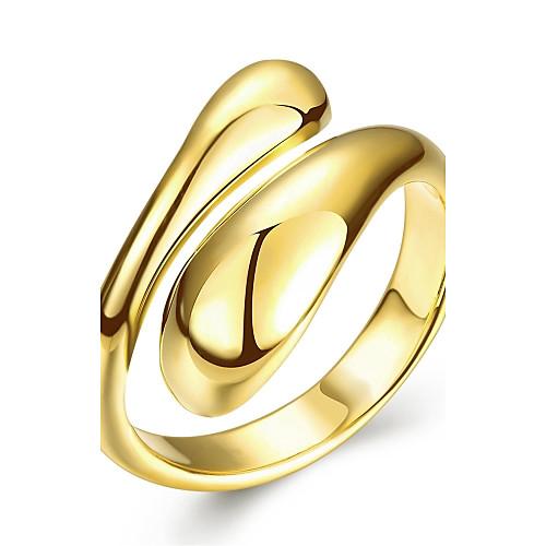 Жен. Розовое золото / Медь / Серебрянное покрытие Кольцо - Геометрической формы Серебряный / Розовый / Золотой Кольцо Назначение Свадьба