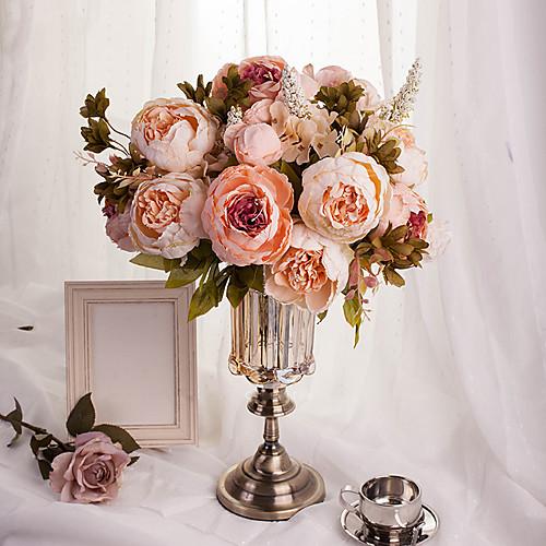 Купить со скидкой Искусственные Цветы 1 Филиал Европейский стиль Пионы Букеты на стол