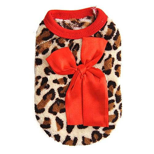 Кошка Собака Толстовка Жилет Одежда для собак Леопард Розовый Красный Флис Костюм Для домашних животных Муж. Жен. На каждый день Мода кошка собака футболка жилет одежда для собак в полоску радужный хлопок костюм для домашних животных муж жен очаровательный на каждый