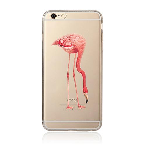 Кейс для Назначение Apple iPhone X iPhone 8 Plus Кейс для iPhone 5 iPhone 6 iPhone 7 Прозрачный С узором Кейс на заднюю панель Фламинго