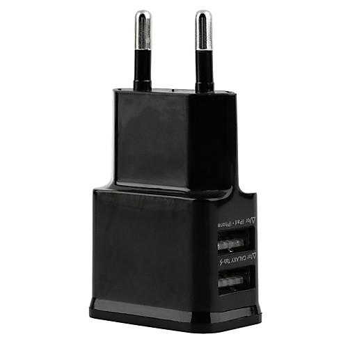 Фото Зарядное устройство для дома / Портативное зарядное устройство Зарядное устройство USB Евро стандарт Несколько портов 2 USB порта 2.1 A зарядное