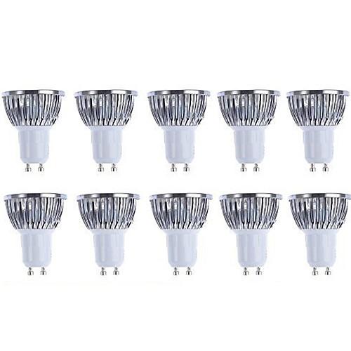 5W 3000/6500lm GU10 Точечное LED освещение 4 Светодиодные бусины COB Диммируемая Тёплый белый Белый 110-130V 220-240V
