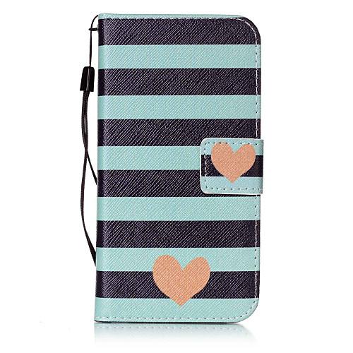 Кейс для Назначение SSamsung Galaxy S7 edge / S7 Кошелек / Бумажник для карт / Флип Чехол С сердцем Твердый Кожа PU для S7 edge / S7 / S6 edge plus фото