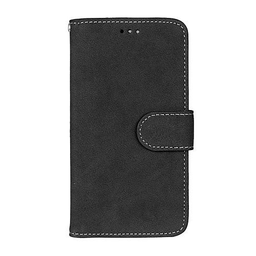 Кейс для Назначение LG K8 / LG / LG K7 Кошелек / Бумажник для карт / со стендом Чехол Однотонный Твердый Кожа PU для LG X Screen / LG X Power / LG V10 / LG K10 фото