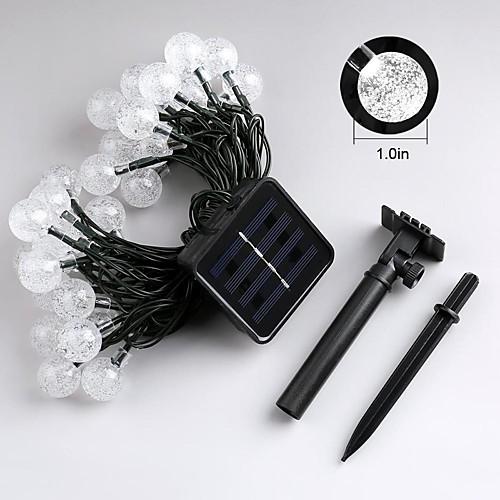 JIAWEN Гирлянды 30 светодиоды ДИП светодиоды Тёплый белый / RGB / Белый Водонепроницаемый / IP65 светодиоды