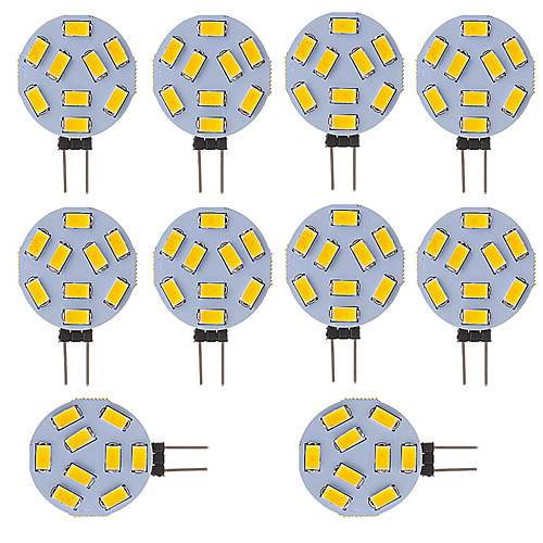 Светодиодная лампа G4 Круглый автомобиль Морской Кемпер RV Home Light 9 smd 5730 120 градусов 12-24 В DC / AC (10 штук) фото