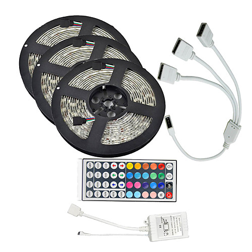 KWB Наборы ламп 900 светодиоды RGB Пульт управления Можно резать Диммируемая Водонепроницаемый Меняет цвета Самоклеющиеся Подсветка для