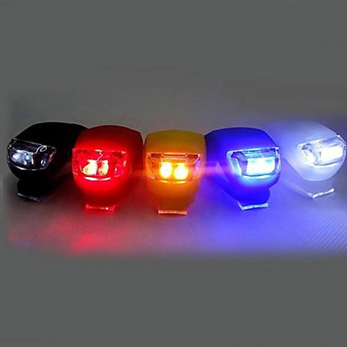 Передняя фара для велосипеда / Задняя подсветка на велосипед / Силиконовый байк Светодиодная лампа Велоспорт Клемма, Маленький размер, карман Батарейки таблеточного типа Батарея