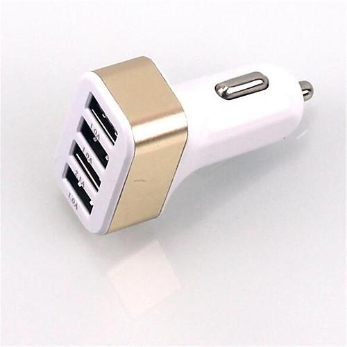 Автомобильное зарядное устройство Зарядное устройство USB Универсальный Несколько портов 4 USB порта 5.1 A DC 12V-24V сетевое зарядное устройство apple usb мощностью 5 вт md813zm a