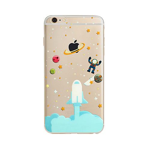 Кейс для Назначение Apple iPhone X iPhone 8 Plus Кейс для iPhone 5 iPhone 6 iPhone 7 Полупрозрачный С узором Кейс на заднюю панель