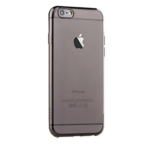 Кейс для Назначение Apple iPhone 6 iPhone 6 Plus Полупрозрачный Кейс на заднюю панель Сплошной цвет Мягкий ТПУ для iPhone 6s Plus iPhone